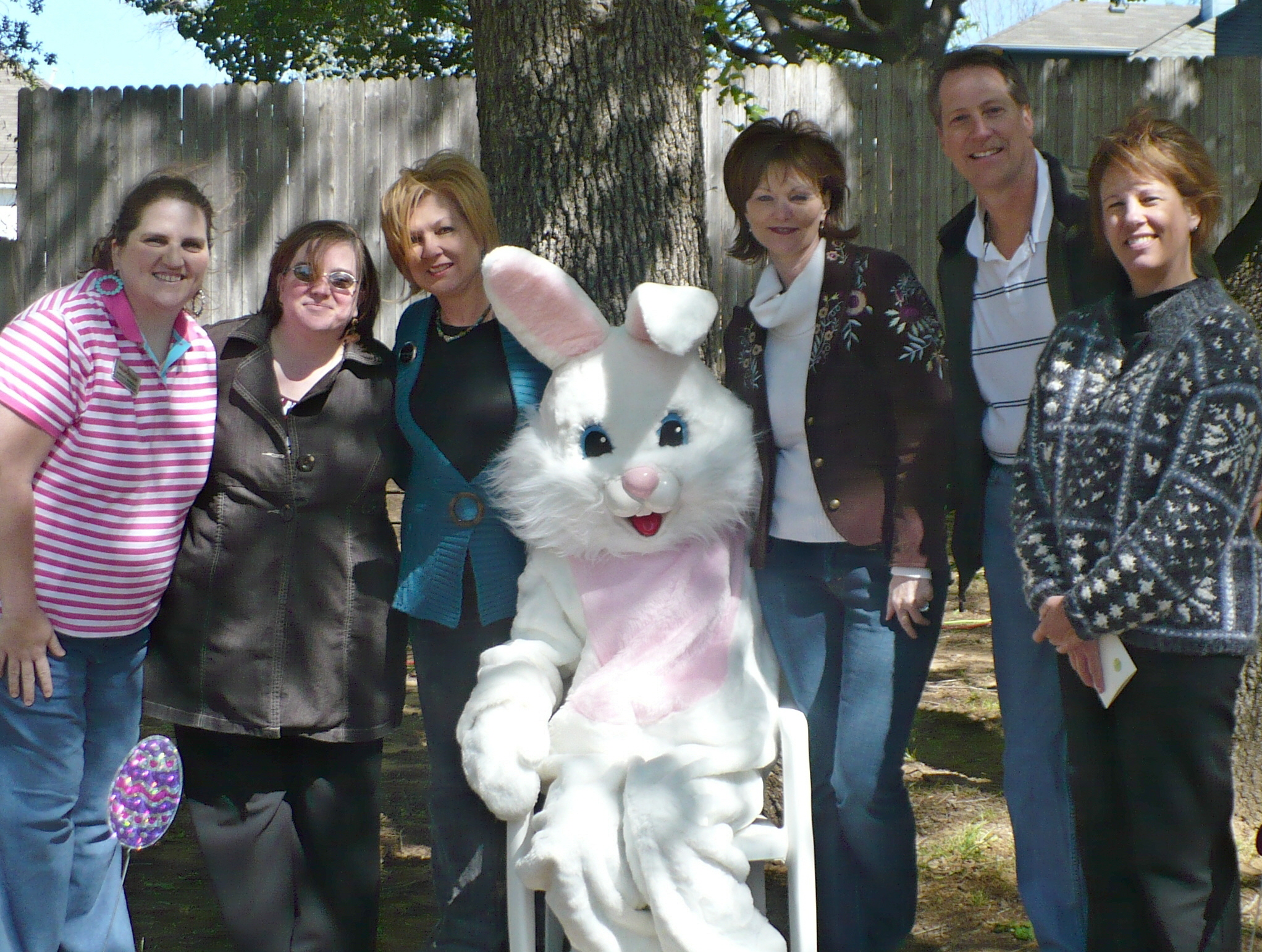 The Minteer Team featured with The Easter Bunny!!